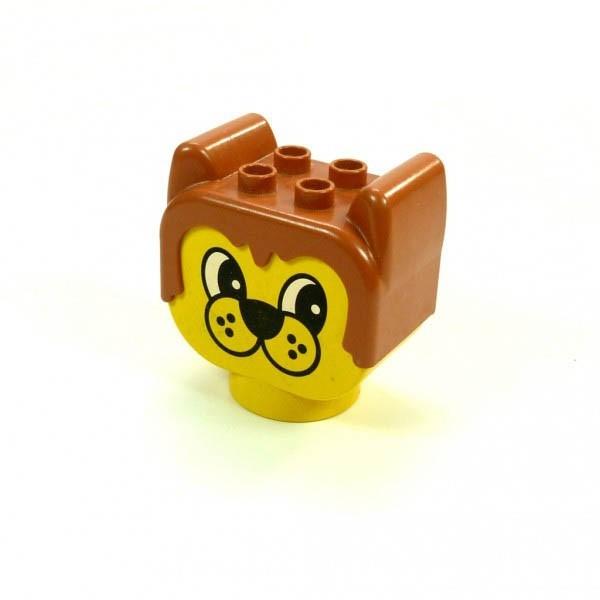 1 x Lego Duplo Primo Tier Kopf hell braun gelb Bär Figur Baby Motiv Stein Baustein dupbearhead