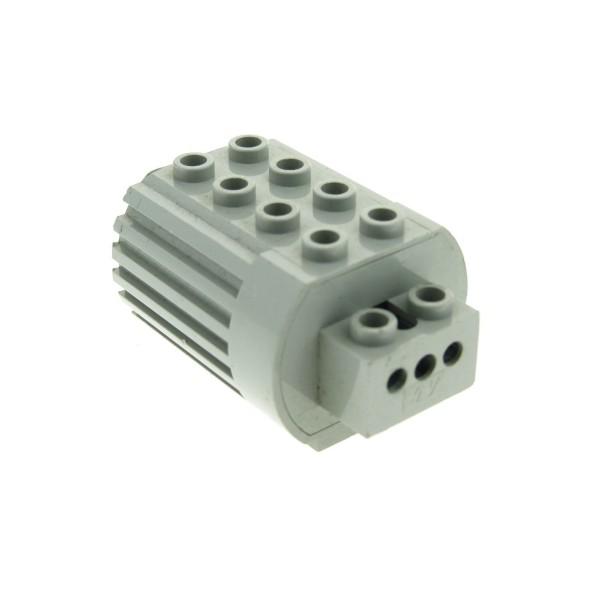 1 x Lego Technic Electric Motor B-Ware Defekt alt-hell grau 4.5 V Motor Typ2 für 2 polige Anschlüsse mit mittel Pin Elektrik geprüft für Set 1092 6216m2
