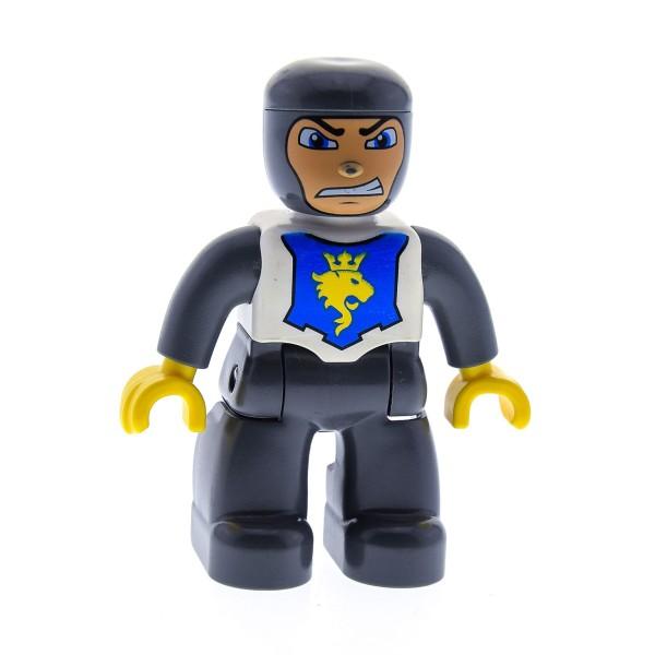 1 X Lego Duplo Figur Mann Ritter Hose Neu-dunkel Grau