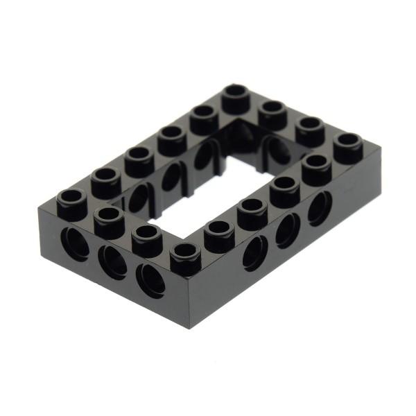 1 x Lego Technic Bau Rahmen Stein schwarz 4x6 Lochstein Technik Unterseite Punkt Set 10227 41339 7888 4144025 40344 32531