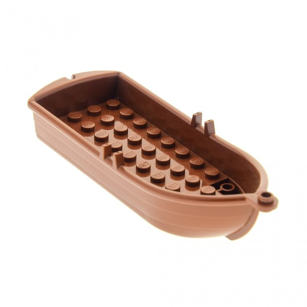 1 x Lego System Boot reddish rot braun 14x5x2 Paddelboot Ruderboot Piraten Schiff Soldaten Indianer Insulaner Set 8802 79013 6242 70412 4218751 2551