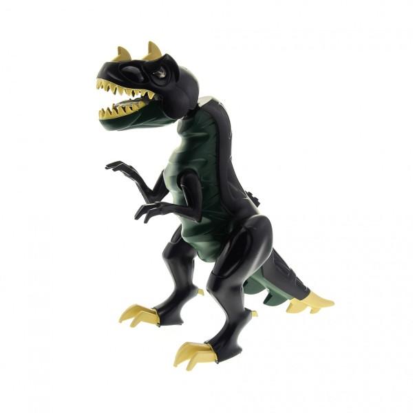 1 x Lego System Tier T - Rex dunkel grün schwarz Dino 2010 Dinosaurier Raptor groß leuchtende Augen geprüft 7297 7476 TRex01
