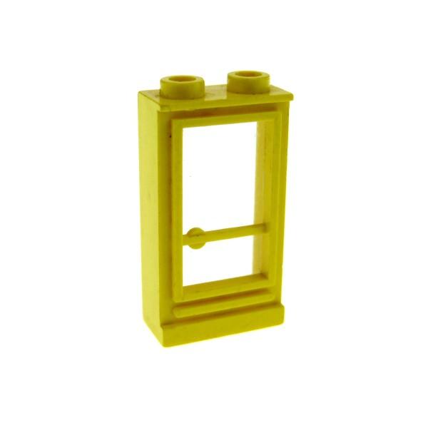 1 x Lego System Tür Rahmen gelb transparent weiß 1 x 2 x 3 rechts Haus Classic Door (old type) 33bc01