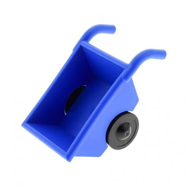 1 x Lego Duplo Schubkarre blau Karre Räder schwarz Bauernhof Bauer Gärtner Zoo Garten Puppenhaus Set 9217 4663 4688 4222646 2292c02