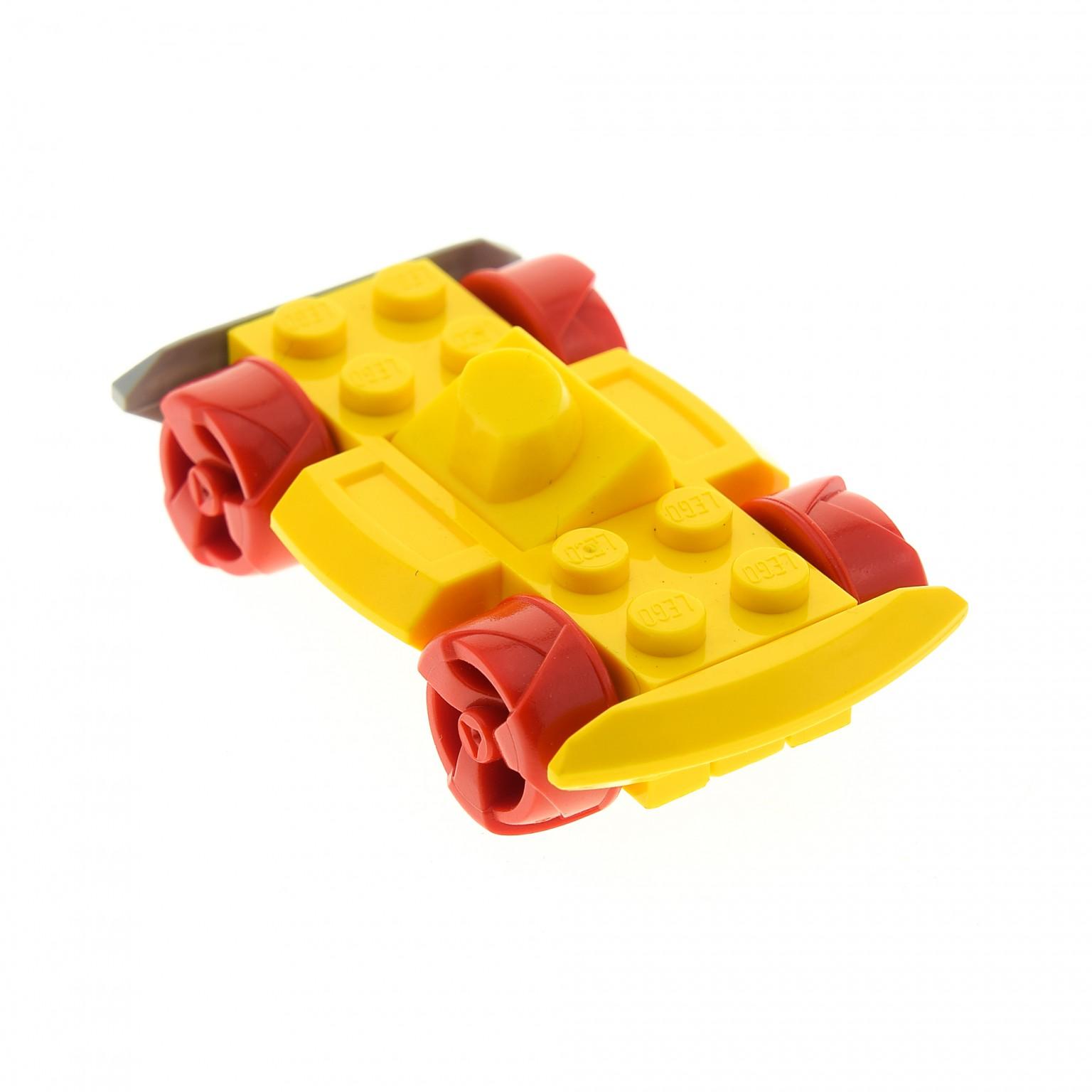 1x Lego Auto gelb 4x6 beweglichen Stoßdämpfer Bumber Racers Lightor Warrior 4573