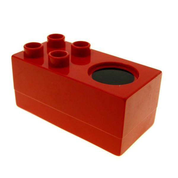 1 x Lego Duplo Möbel Herd rot schwarz 2x4x2 1/2 Küche Puppenhaus 4548541 6472
