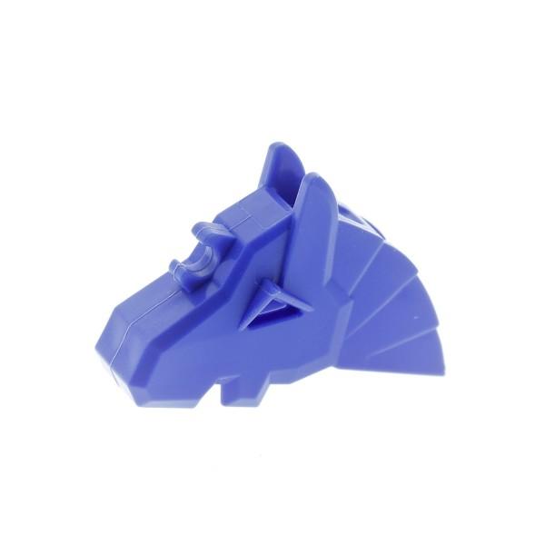 1 x Lego System Tier Pferde Kopfschmuck violette blau Kampf Helm Rüstung Pferd Zubehör König Castle Ritter Set 8781 8877 4227044 48492