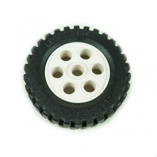 4 x Lego Technik Räder 13x24 weiss Rad Felge Technic 2695c01 B10