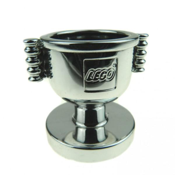 1 x Lego Duplo Sieger Pokal Chrom silber Preis Nummer 1 Trophäe Puppenhaus Cup Auto Rennen Pferde reiten 40553