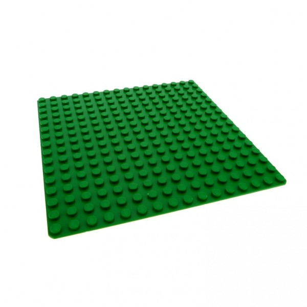1 x Lego System Platte B-Ware abgenutzt Bau Basic Platte 16x16 grün flach 16 x 16 Noppen Rasen Gras Wiese 6098 4217115 3867
