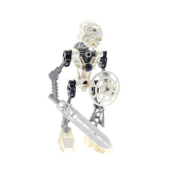 1 x Lego Bionicle Figur Set Modell Technic Toa 8536 Kopaka weiß incompelte unvollständig