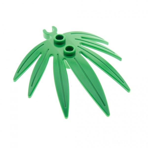 1 x Lego System Pflanze grün 6x5 Blatt Palmen Blatt dicker offener O - Clip Palme Leaves Swordleaf Set 70749 41149 41150 70604 6022936 10884