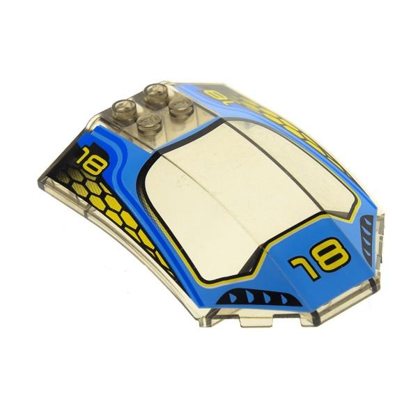 1 x Lego System Windschutzscheibe transparent schwarz 8 x 6 x 2 mit Logo 18 Cockpit Kanzel Kuppel Fenster braun x224px1