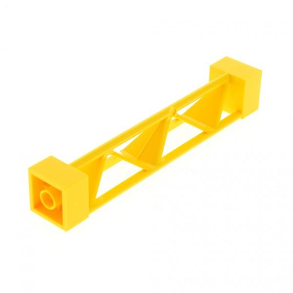 1 x Lego System Stütze gelb 2x2x10 Säule Pfeiler Träger Pillar Girder Triangular Vertical - Type 1 Construction 7905 30517