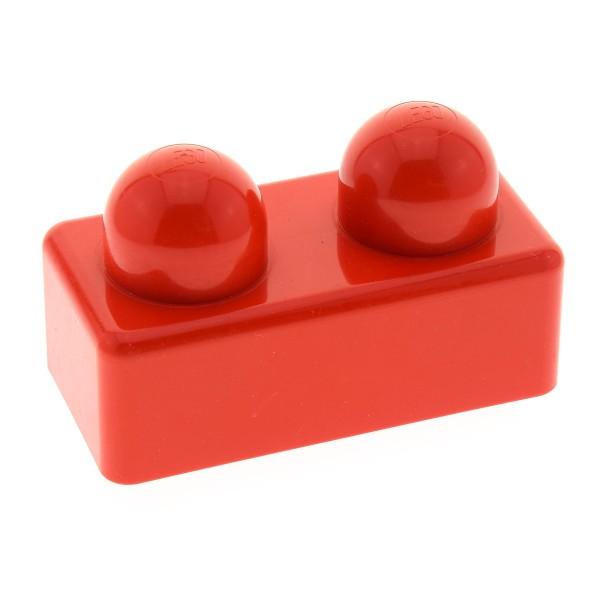 1 x Lego Duplo Primo Baustein rot 1x2 2 grosse Noppen Baby für Set 2005 2022 31001
