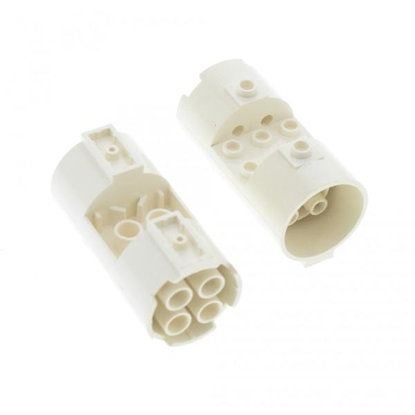 2x Lego Zylinder weiß 3x6x2 2/3 Turbine Triebwerk Düse Star Wars 30360
