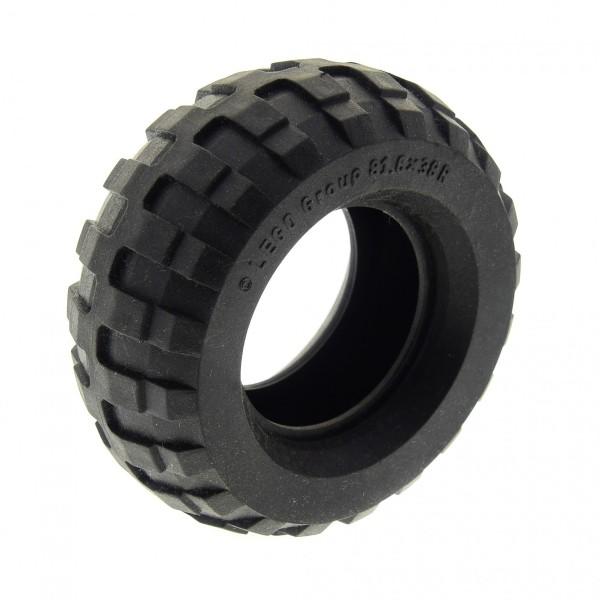 1 x Lego Technic Rad B-Ware abgenutzt Balloon Reifen schwarz 81.6 x 38 R solo Technic Auto Fahrzeuge 45982