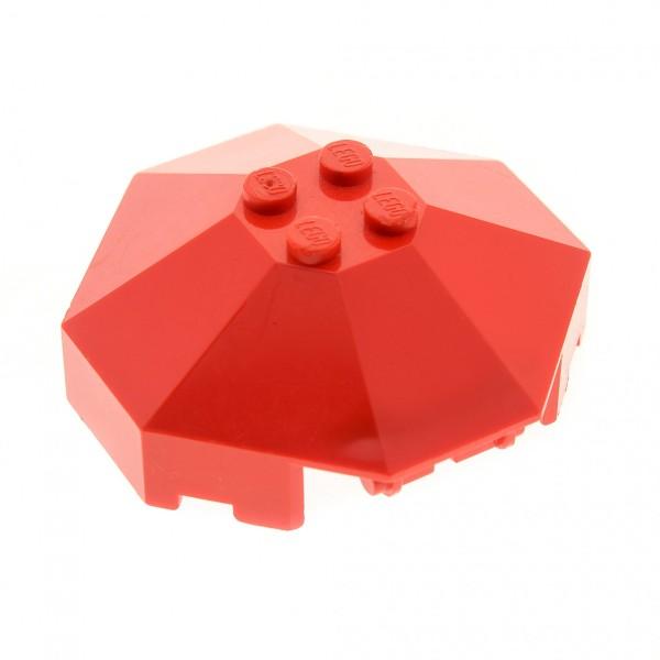1 x Lego System Kanzel rot 6 x 6 Deckel Achteck Ritter Burg Dach Cockpit Kuppel ohne Achs Loch 2418a