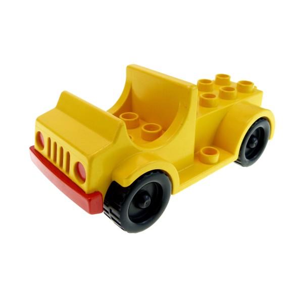 1x Lego Duplo Fahrzeug Truck gelb Feuerwehr LKW Transporter Set 9156 1041 4575