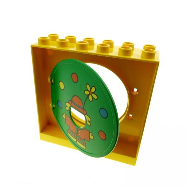 1 x Lego Duplo Kugelbahn Halter 2x6x5 gelb Tür Tor Klappe grün Clown und Bälle Röhre 31193pb02 4114704 31191