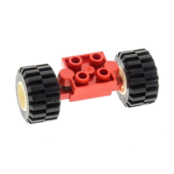 1 x Lego System Achse rot 2x2 Platte Federachse 2x Rad Reifen weiß schwarz 11mm D. x 12mm Auto Felge Set 2149 6328 2234 6551 2484c01 6014ac01