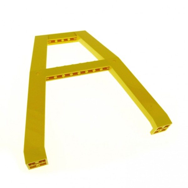 1 x Lego System Kran Standfuß gelb Eisenbahn Baustelle Stütze Verladekran für Set 7243 2635