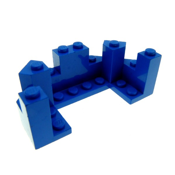 1x Lego Mauerteil blau 4x8x2 1/3 Mauer Ecke Zinne Turm Burg 6057 6066