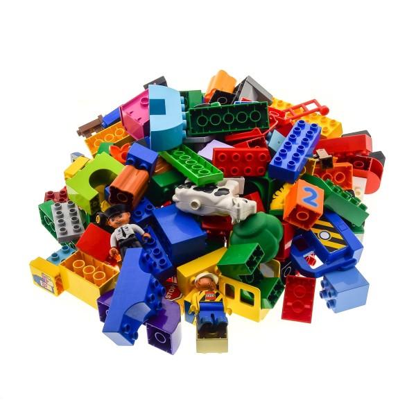 2 Kg Lego Duplo ca 150 Bau Basic Steine und Sondersteine Kiloware zufällig bunt gemischt z.B. Fahrzeuge Figuren