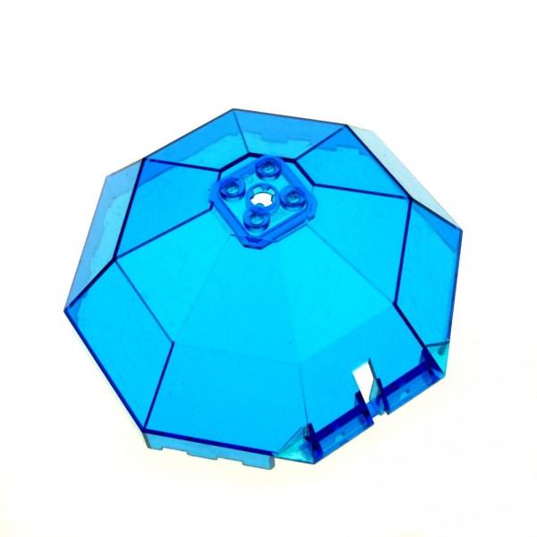 1 x Lego System Kuppel transparent dunkel blau 10x10x4 Fenster Cockpit Kanzel achteckig 2598