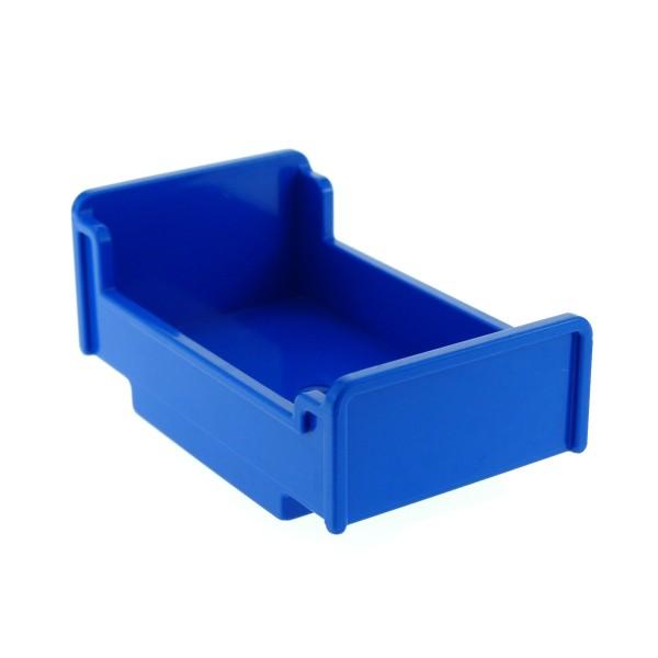 1x Lego Duplo Möbel Bett blau 3x5x1 2/3 Schlafzimmer Haus 6000804 76338 4895