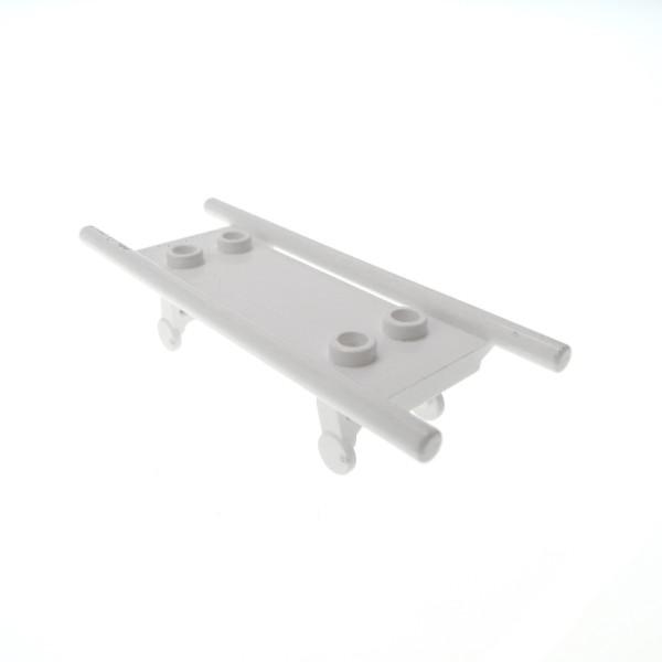 1 x Lego System Trage weiß Bahre Liege Bett Krankenwagen Krankenhaus Arzt City 4715 4714c01