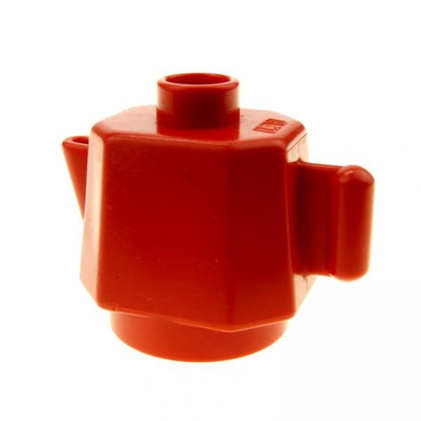 1 x Lego Duplo Geschirr Kanne rot klein Kaffee Tee Milch Puppenhaus Wohnzimmer Küche Zubehör Möbel 4904
