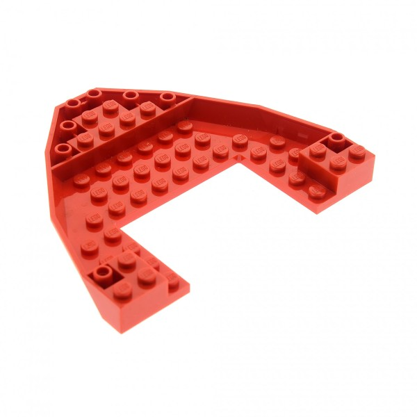 1 x Lego System Schiff Boot Platte Basis Rumpf Bug Deck rot 10x12x1 Set Küsten Schutz Feuerwehr 7046 4278068 47404