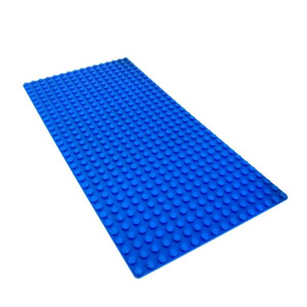 1 x Lego System Platte B-Ware beschädigt Bau Basic Platte blau flach 32 x 16 16x32 Wasser Meer Ozean 10234 3857 2748