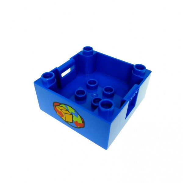 1 x Lego Duplo Kiste blau 4x4 Post Erde Paket Container Aufsatz 5609 47423px9