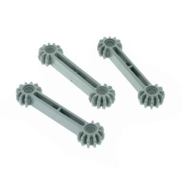 3 x Lego Bionicle Zahnstange Arm alt-hell grau 1x7 für Technic 9 Zähne Zahnrad Rack für Set 10076 41666