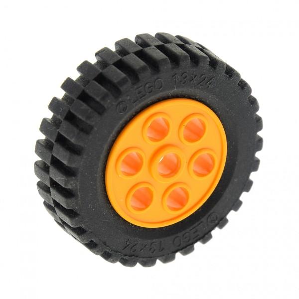 1 x Lego Technic Auto Fahrzeug Rad schwarz 30mm D.x13mm Felge medium hell orange Räder 13x24 Technik Model Team Set 4589 2696 2695c01