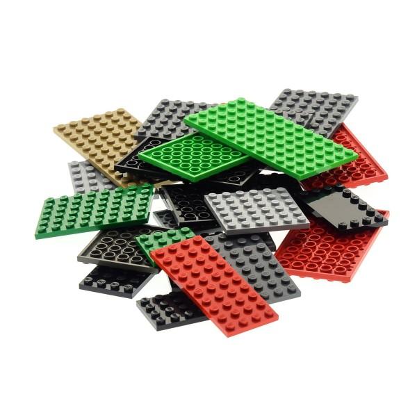 25 x Lego System Basic Platten Bau Platte zufällig bunt gemischt verschiedene Farben und Größen City