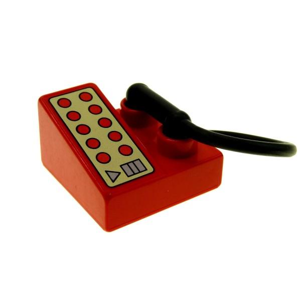 1 x Lego Duplo Telefon rot 2x2 mit Hörer Puppenhaus Wohnzimmer Möbel 82185 6489