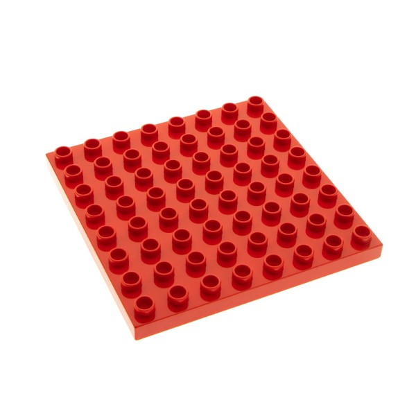 1x Lego Duplo Bau Basic Platte rot 8x8 Set 5695 4276093 74965 51262