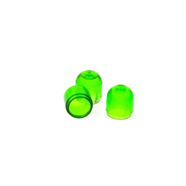 3 x Lego System Electric Licht Stein Kappe transparent grün Lampen Abdeckung farbig Light & Sound Set 6484 6783 6750 6780 846 4773