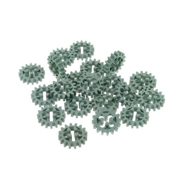 20 x Lego Technic Zahnrad alt-hell grau z16 Zahnräder 16 Zähne Rad Technik 4019