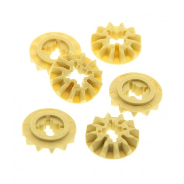 6 x Lego Technic Zahnräder beige tan 12z 12 Zähne für Technik für Set Getriebe Differential Zahnrad 4514556 6589