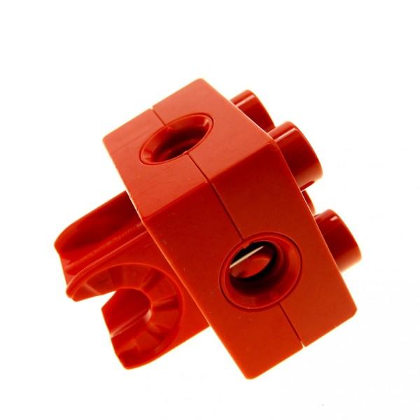 1 x Lego Duplo Toolo Stein rot 2 x 2 2x2 Arm Halterung Clip Verbinder 74957