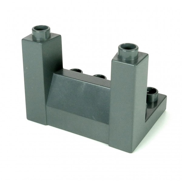 1 x Lego Duplo Zinne oben neu-dunkel grau 3 x 4 x 2 1/3 3x4x2 1/3 Rampart Ritter Burg Schloss Mauer Element Ober Teil 4864 51698