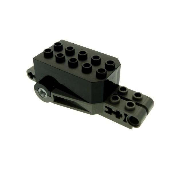 1 x Lego Technic Rückzieh Motor schwarz alt-dunkel grau 9x4x2 1/3 Aufziehmotor Motorrad pull back 32283c03