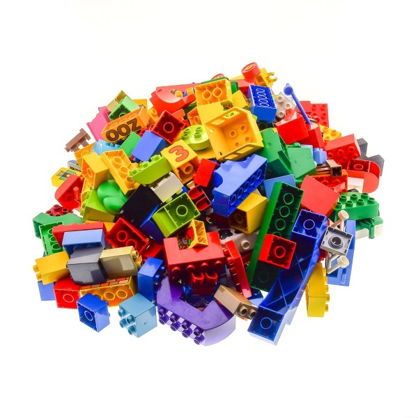 3 Kg Lego Duplo Bau Basic Steine Sondersteine Kiloware ca 230 Teile zufällig bunt gemischt z.B. Tiere Autos Figuren