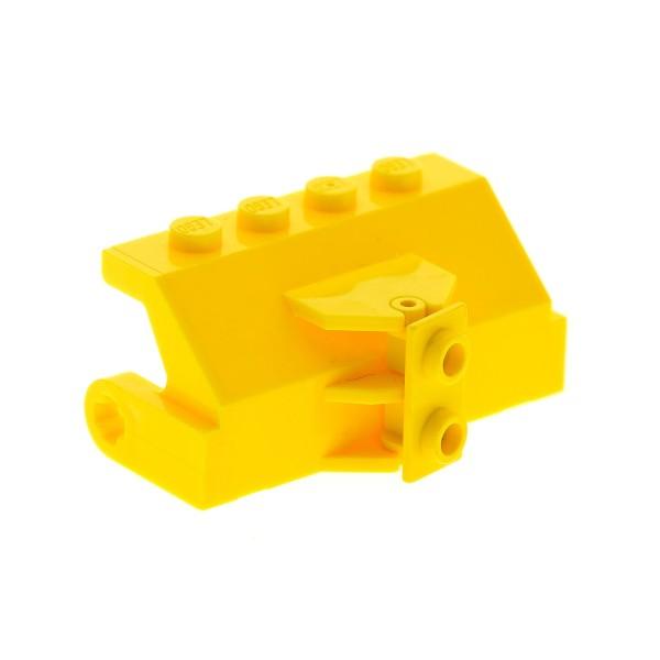1 x Lego System Wasch Bürsten Halter für Kehrmaschine gelb mit Kugel Gelenk Platte 1x2 gelb Straßen Reinigung Set 6645 4096 393824 3938 2578b