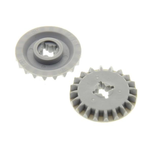 2 x Lego Technic Zahnrad 20 Zähne neu-hell grau Typ1 Differential 4211885 32198