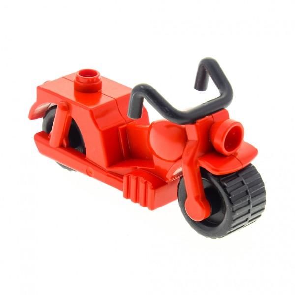 1 x Lego Duplo Motorrad rot Feuerwehr Postbote 5638 dupmc